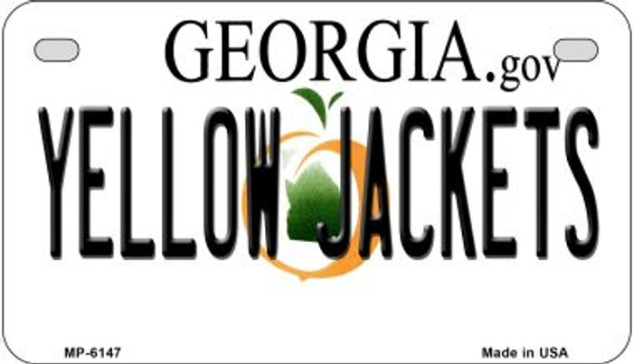 Yellow Jackets Georgia Wholesale Novelty Metal Motorcycle Plate MP-6147