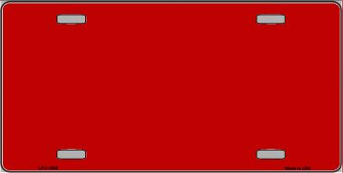 Red Metallic Solid Background Wholesale Metal Novelty License Plate LPC-1005