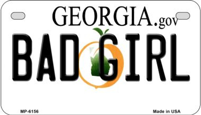Bad Girl Georgia Wholesale Novelty Metal Motorcycle Plate MP-6156