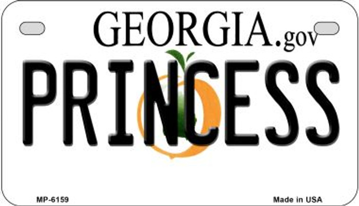 Princess Georgia Wholesale Novelty Metal Motorcycle Plate MP-6159