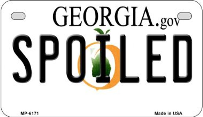 Spoiled Georgia Wholesale Novelty Metal Motorcycle Plate MP-6171