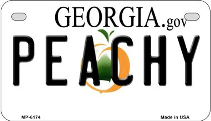 Peachy Georgia Wholesale Novelty Metal Motorcycle Plate MP-6174