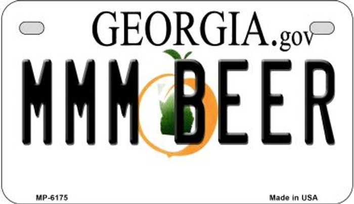 MMM Beer Georgia Wholesale Novelty Metal Motorcycle Plate MP-6175