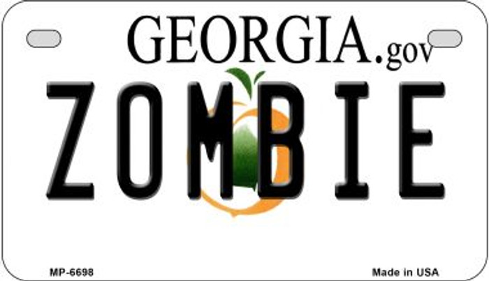 Zombie Georgia Wholesale Novelty Metal Motorcycle Plate MP-6698