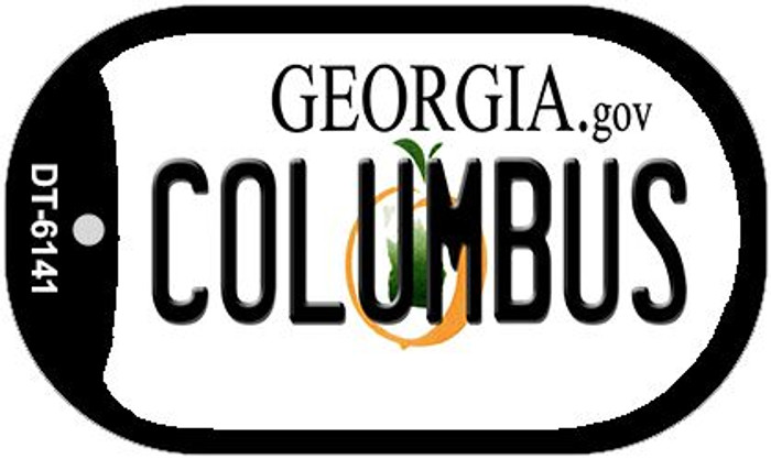 Columbus Georgia Wholesale Novelty Metal Dog Tag Necklace DT-6141