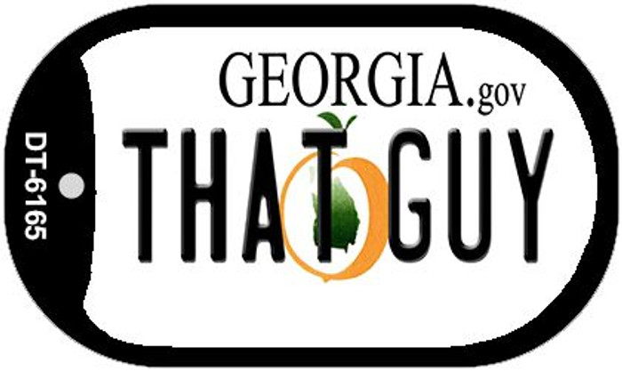 That Guy Georgia Wholesale Novelty Metal Dog Tag Necklace DT-6165