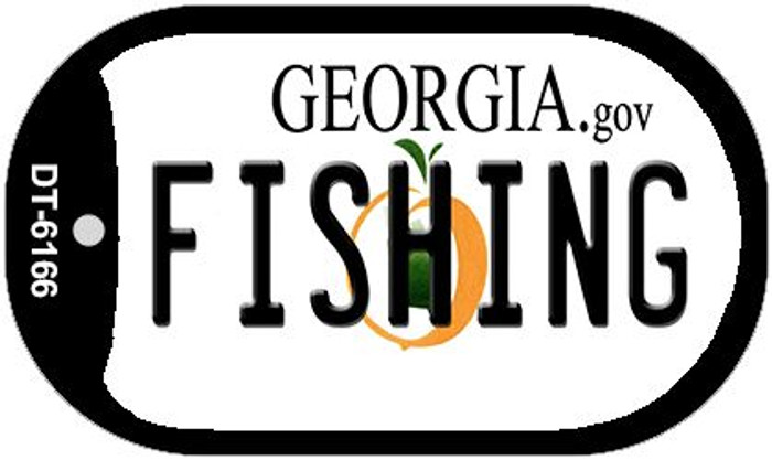 Fishing Georgia Wholesale Novelty Metal Dog Tag Necklace DT-6166