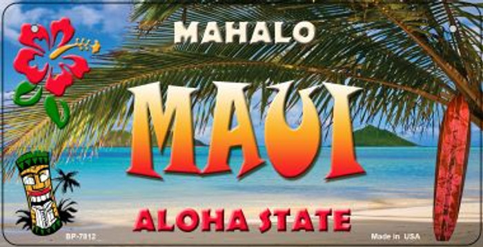 Maui Tiki Wholesale Novelty Metal Bicycle Plate BP-7812