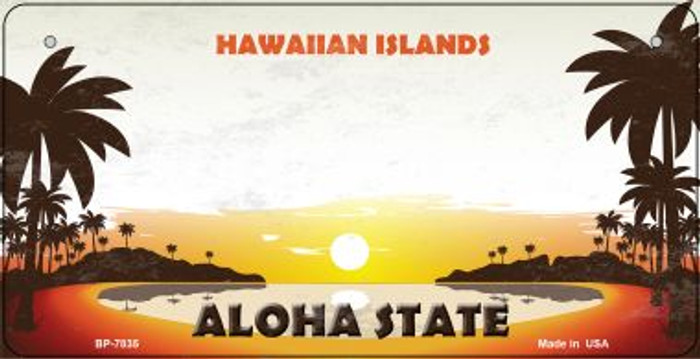 Blank Hawaiian Islands Wholesale Novelty Metal Bicycle Plate BP-7835