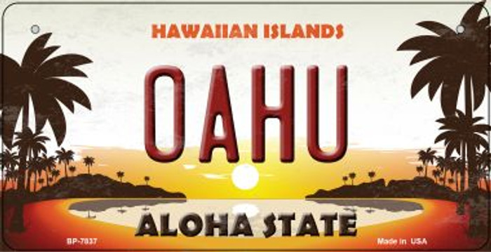 Oahu Hawaiian Islands Wholesale Novelty Metal Bicycle Plate BP-7837
