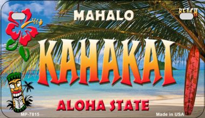 Kahakai Tiki Wholesale Novelty Metal Motorcycle Plate MP-7815