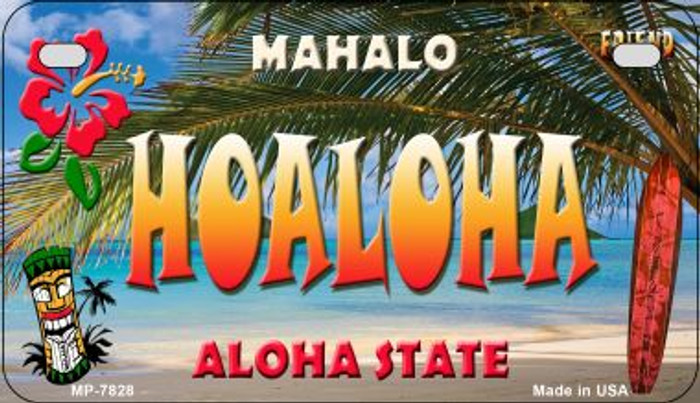 Hoaloha Tiki Wholesale Novelty Metal Motorcycle Plate MP-7828
