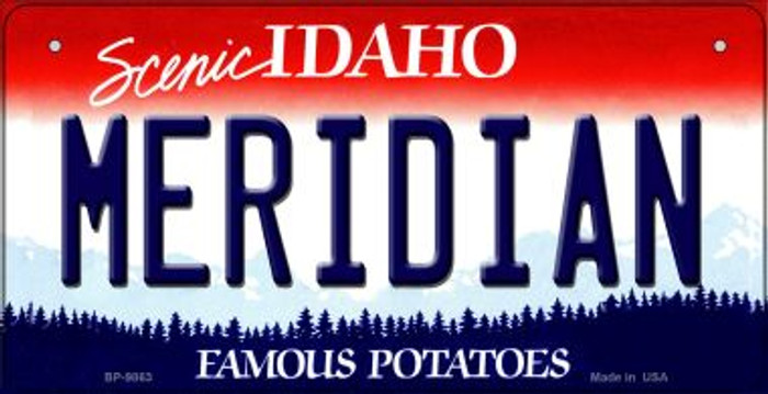 Meridian Idaho Wholesale Novelty Metal Bicycle Plate BP-9863
