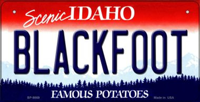 Blackfoot Idaho Wholesale Novelty Metal Bicycle Plate BP-9869
