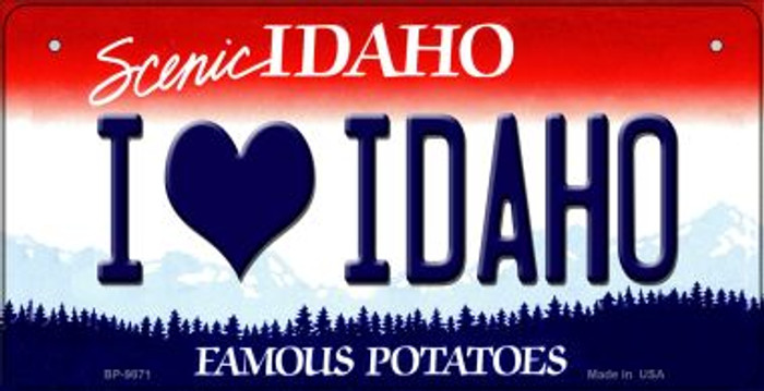 I Love Idaho Idaho Wholesale Novelty Metal Bicycle Plate BP-9871