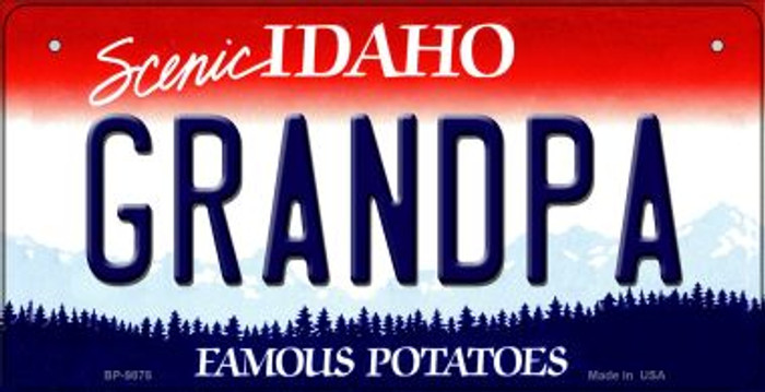 Grandpa Idaho Wholesale Novelty Metal Bicycle Plate BP-9875