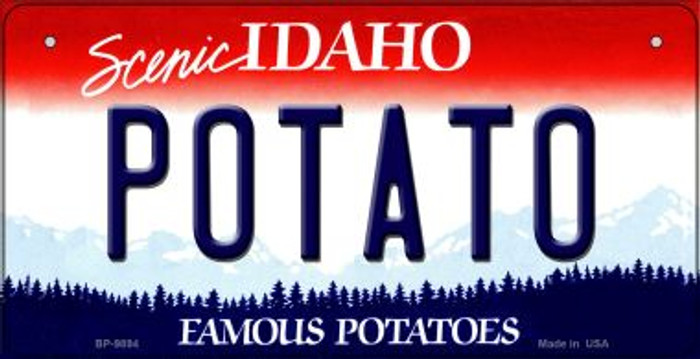 Potato Idaho Wholesale Novelty Metal Bicycle Plate BP-9894