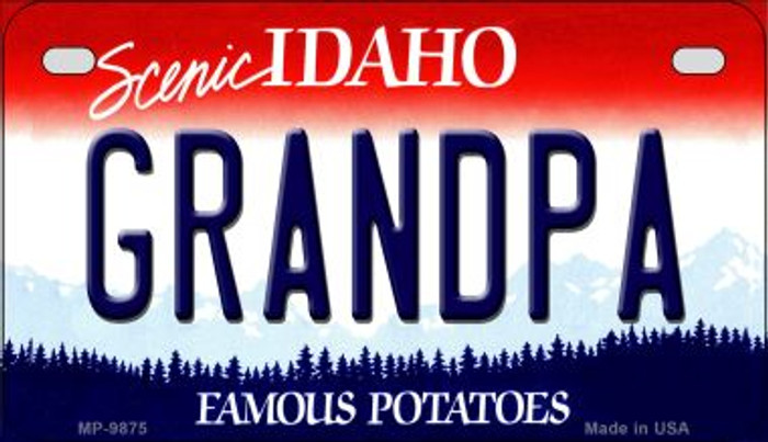 Grandpa Idaho Wholesale Novelty Metal Motorcycle Plate MP-9875