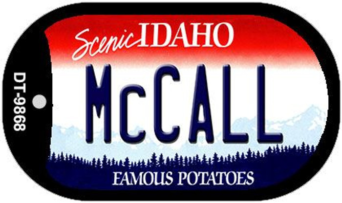McCall Idaho Wholesale Novelty Metal Dog Tag Necklace DT-9868