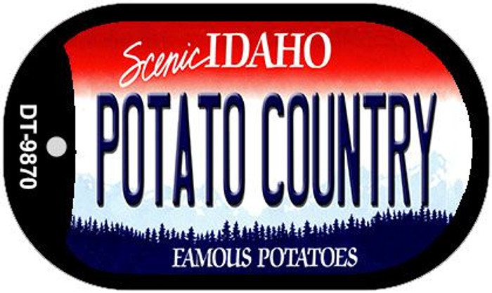 Potato Country Idaho Wholesale Novelty Metal Dog Tag Necklace DT-9870