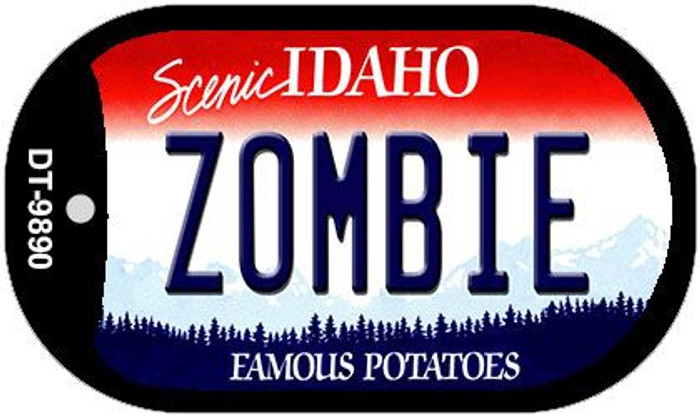 Zombie Idaho Wholesale Novelty Metal Dog Tag Necklace DT-9890