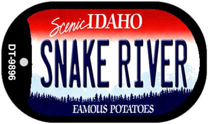 Snake River Idaho Wholesale Novelty Metal Dog Tag Necklace DT-9896