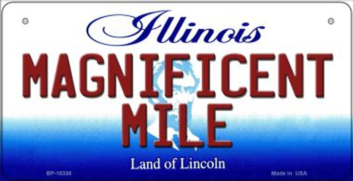 Magnificent Mile Illinois Wholesale Novelty Metal Bicycle Plate BP-10330