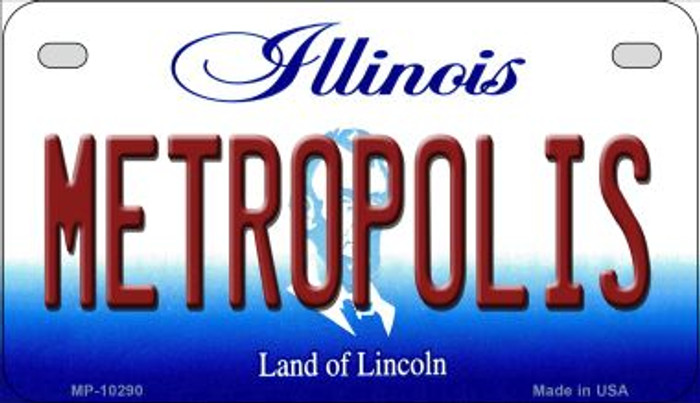 Metropolis Illinois Wholesale Novelty Metal Motorcycle Plate MP-10290
