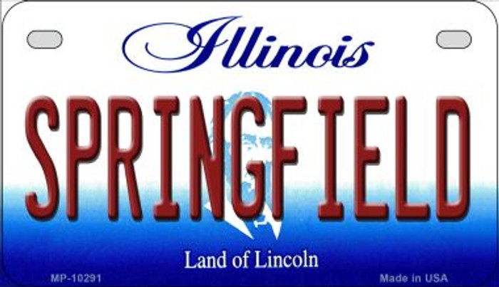 Springfield Illinois Wholesale Novelty Metal Motorcycle Plate MP-10291