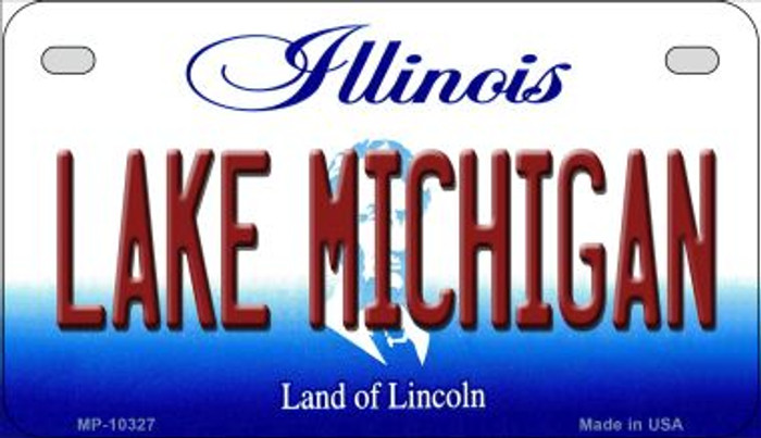 Lake Michigan Illinois Wholesale Novelty Metal Motorcycle Plate MP-10327