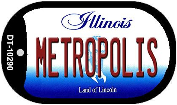 Metropolis Illinois Wholesale Novelty Metal Dog Tag Necklace DT-10290