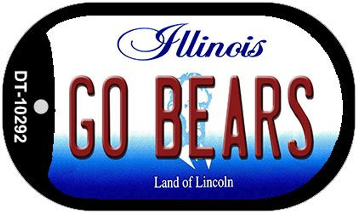 Go Bears Illinois Wholesale Novelty Metal Dog Tag Necklace DT-10292