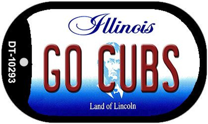 Go Cubs Illinois Wholesale Novelty Metal Dog Tag Necklace DT-10293