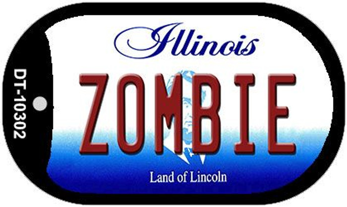 Zombie Illinois Wholesale Novelty Metal Dog Tag Necklace DT-10302