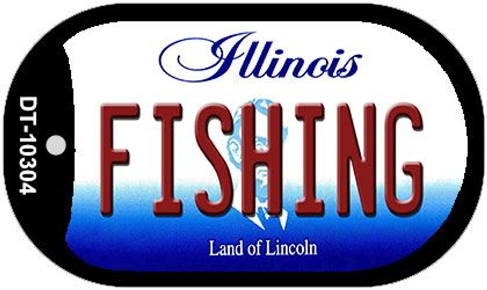 Fishing Illinois Wholesale Novelty Metal Dog Tag Necklace DT-10304
