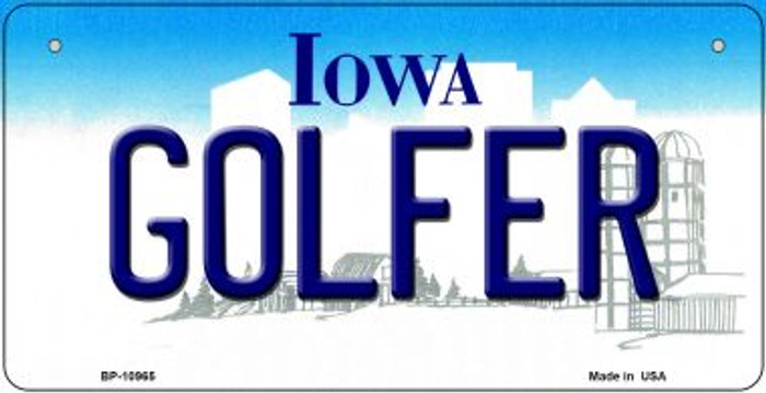Golfer Iowa Wholesale Novelty Metal Bicycle Plate BP-10965
