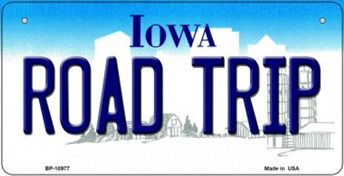 Road Trip Iowa Wholesale Novelty Metal Bicycle Plate BP-10977