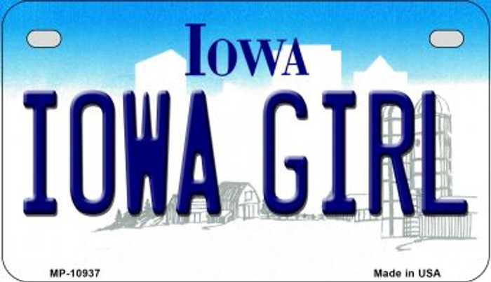 Iowa Girl Iowa Wholesale Novelty Metal Motorcycle Plate MP-10937