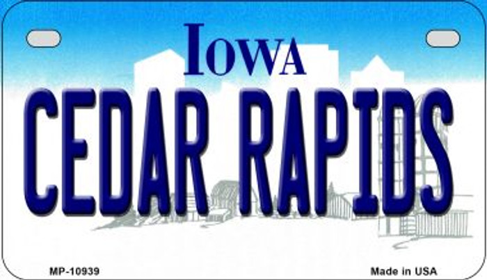 Cedar Rapids Iowa Wholesale Novelty Metal Motorcycle Plate MP-10939