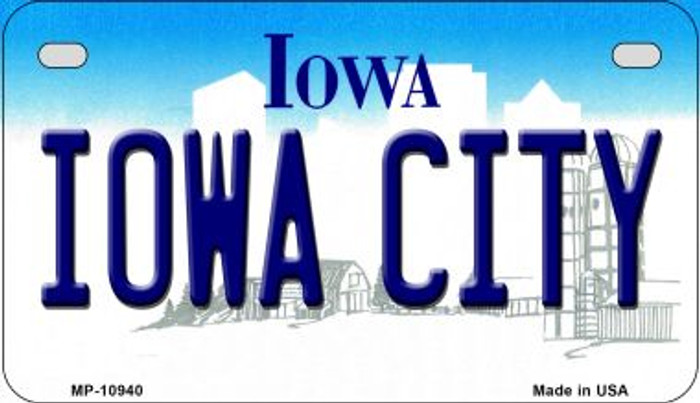 Iowa City Iowa Wholesale Novelty Metal Motorcycle Plate MP-10940
