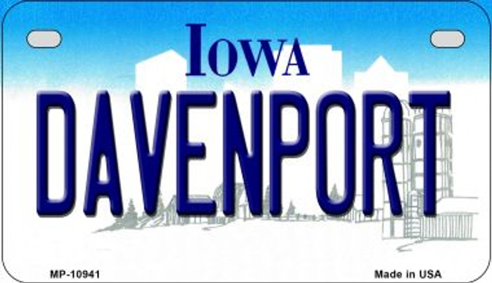 Davenport Iowa Wholesale Novelty Metal Motorcycle Plate MP-10941