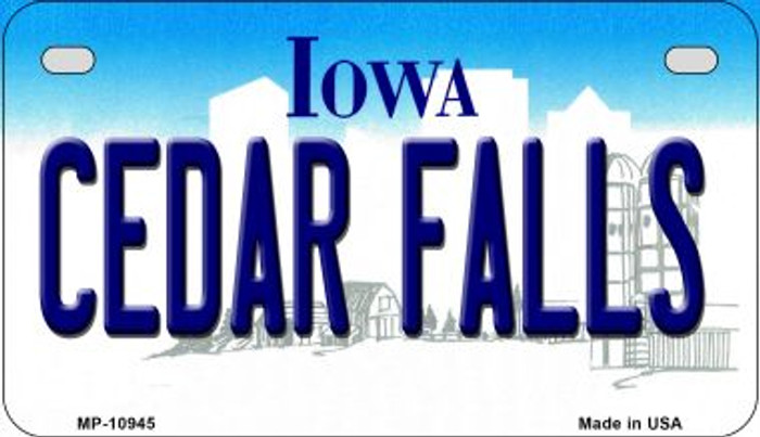 Cedar Falls Iowa Wholesale Novelty Metal Motorcycle Plate MP-10945