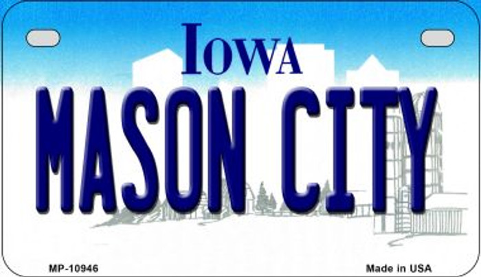 Mason City Iowa Wholesale Novelty Metal Motorcycle Plate MP-10946
