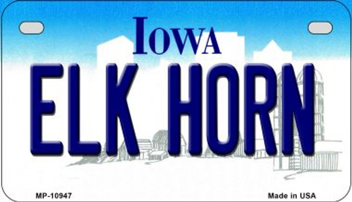 Elk Horn Iowa Wholesale Novelty Metal Motorcycle Plate MP-10947