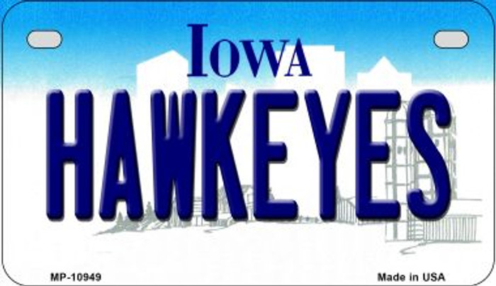 Hawkeyes Iowa Wholesale Novelty Metal Motorcycle Plate MP-10949