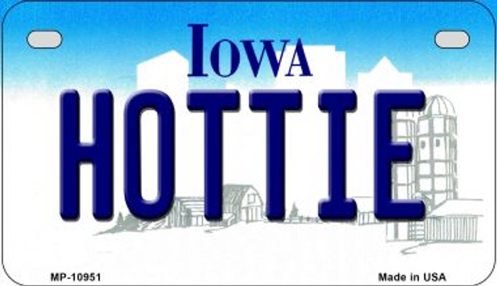 Hottie Iowa Wholesale Novelty Metal Motorcycle Plate MP-10951