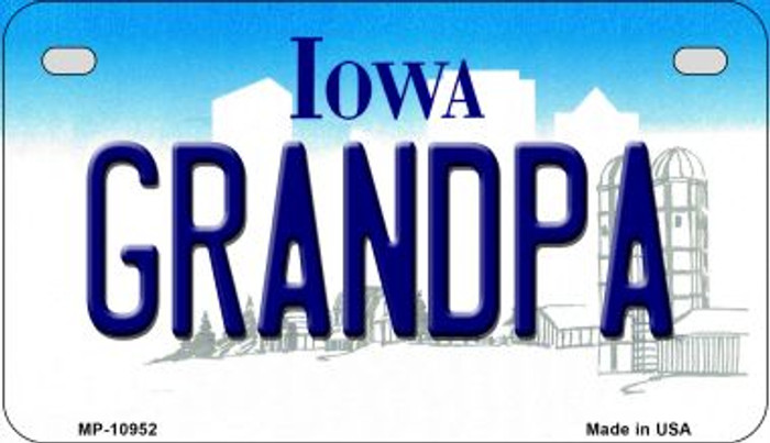 Grandpa Iowa Wholesale Novelty Metal Motorcycle Plate MP-10952