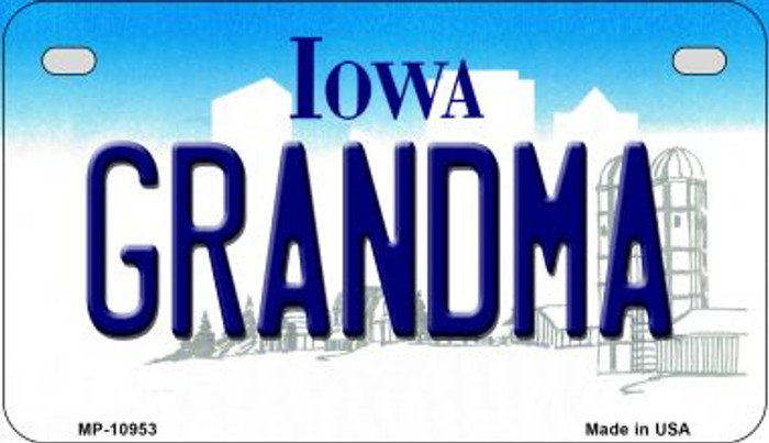 Grandma Iowa Wholesale Novelty Metal Motorcycle Plate MP-10953