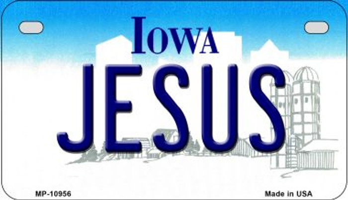 Jesus Iowa Wholesale Novelty Metal Motorcycle Plate MP-10956