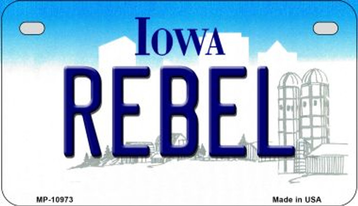Rebel Iowa Wholesale Novelty Metal Motorcycle Plate MP-10973